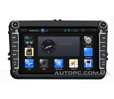 Штатная магнитола Volkswagen Golf 5,6 (V,VI) - Android 4 - CA-FI Dashlinq4