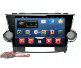 "Штатная магнитола Toyota Highlander (2007-2014) - SMARTY Trend - Full-touch 10.1"" - Android 4+"