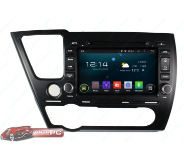 Штатная магнитола Honda Civic 4D 2014 Sedan - Android 4.4.4 - KLYDE
