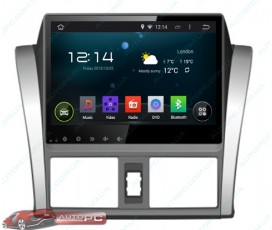 Штатная магнитола Toyota Yaris 2014 - Android 4.4.4 - Full-touch 10.1 - KLYDE