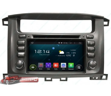 Штатная магнитола Toyota Land Cruiser 100 - Android 4.4.4 - KLYDE