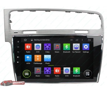 Штатная магнитола Volkswagen New Golf 7 - Android 4.4.4 - Full-touch 10.1 - KLYDE