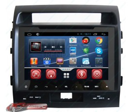 Штатная магнитола Toyota Land Cruiser 200 2008-2010 - Full Touch - SMARTY Trend - Android 4+