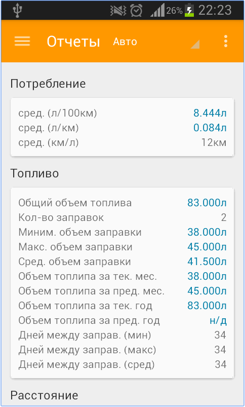 Car LogBook на Android магнитолу
