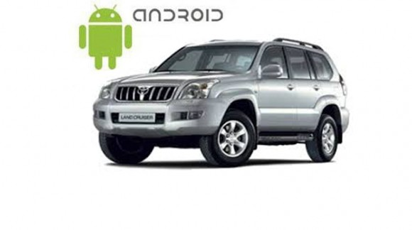 Пример установленной магнитолы SMARTY Trend на ОС Android 6.0.1 (Marshmallow) в  автомобиле Toyota Land Cruiser Prado 120.