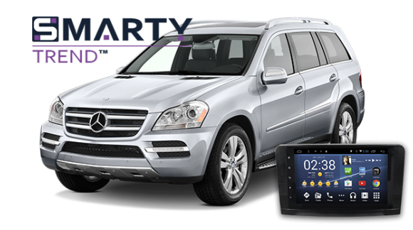 Mercedes Benz GL 550 (2010) Пример установки головного устройства.