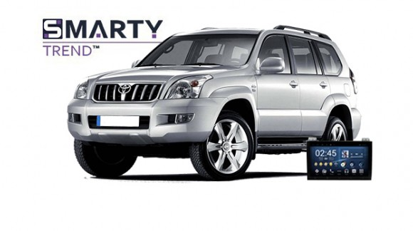 Toyota Land Cruiser Prado 120 - пример установки головного устройства.