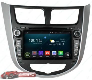 Штатная магнитола Hyundai Accent / Solaris / Verna - Android 4.4.4 - KLYDE