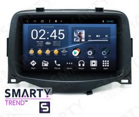 Штатная магнитола Toyota Aygo 2013-2018 - Android 8.1 (9.0) - SMARTY Trend
