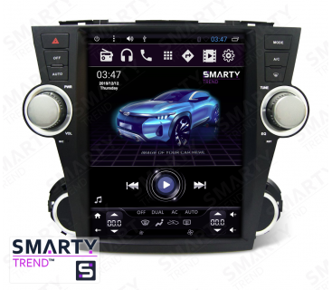Штатная магнитола Toyota Highlander 2007-2014 (Tesla Style) - Android 6.0 - SMARTY Trend