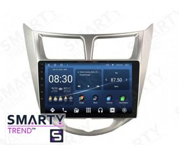Штатная магнитола Hyundai Accent / Solaris / Verna – Android 10 – SMARTY Trend