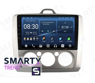 Штатная магнитола Ford Focus II 2009-2011 (Manual-Aircondition) – Android 10 – SMARTY Trend