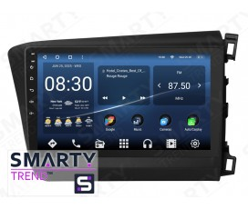 Штатная магнитола Honda CIVIC 4D 2012-2014 RHD – Android – SMARTY Trend