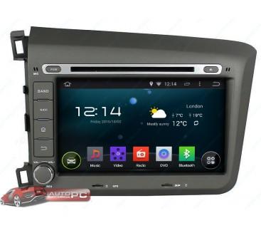 Штатная магнитола Honda Civic 4D 2012-2014 - Android 4.4.4 - KLYDE