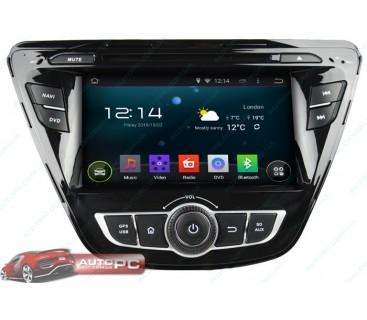 Штатная магнитола Hyundai Elantra 2011-2014 - Android 4.4.4 - KLYDE