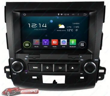 Штатная магнитола Mitsubishi Outlander 2005-2012 - Android 4.4.4 - KLYDE