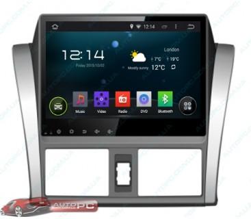 Штатная магнитола Toyota Yaris 2014 - Android 4.4.4 - Full-touch 10.1 - KLYDE