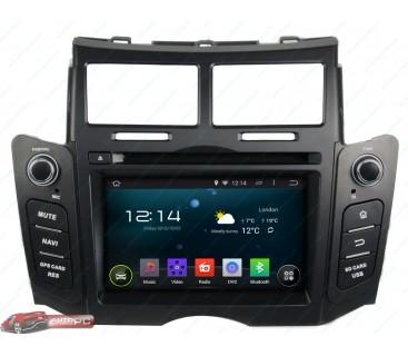 Штатная магнитола Toyota Yaris 2005-2011 - Android 4.4.4 - KLYDE