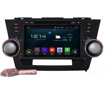 Штатная магнитола Toyota Highlander 2008-2012 - Android 4.4.4 - KLYDE