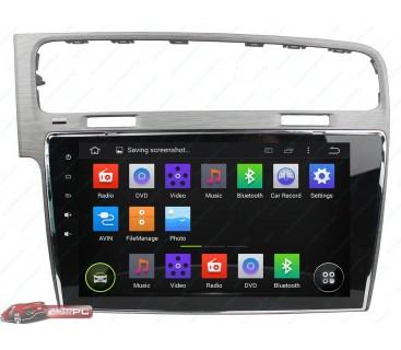 Штатная магнитола Volkswagen New Golf 7 - Android 4.4.4 - Full-touch 10.1 - KLYDE