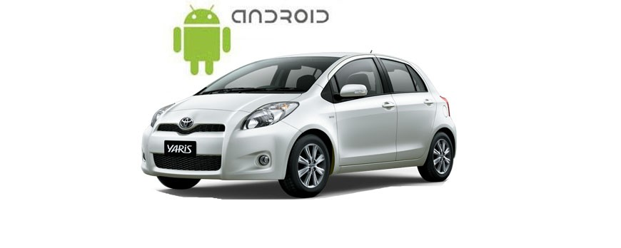 Пример установленной магнитолы Klyde на ОС Android в Toyota Yaris.
