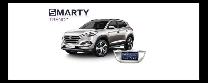 Hyundai Tucson - пример установки головного устройства.