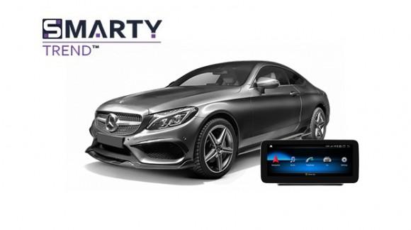 Mercedes-Benz C-Class 2017 (W205)  - пример установки головного устройства